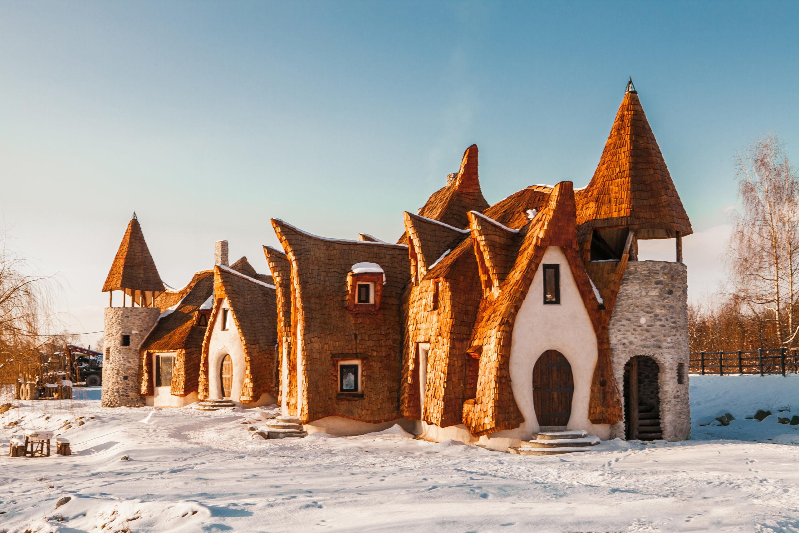 Castelul de Lut Valea Zanelor Sibiu Romania - Iarna
