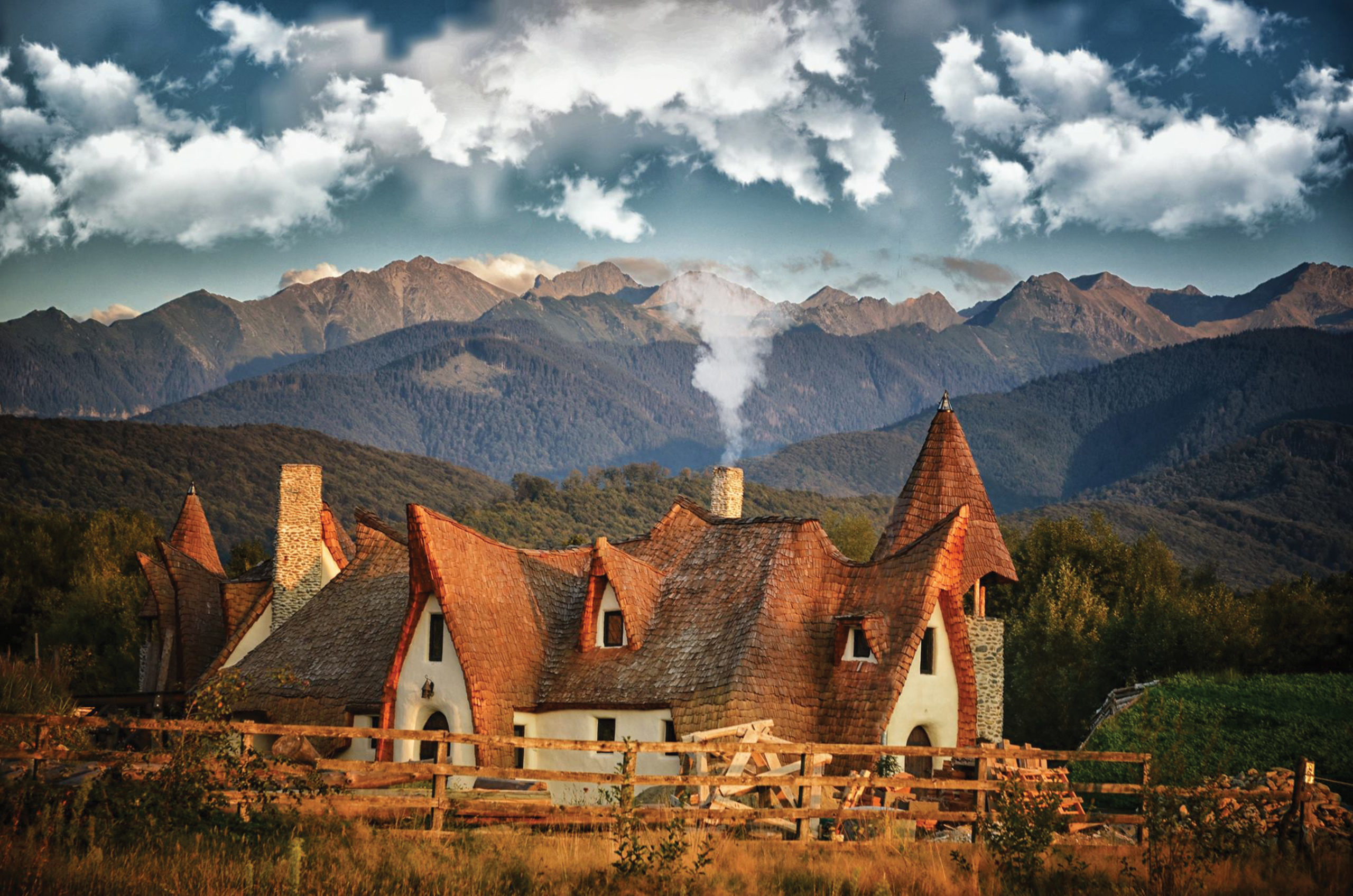 Castelul de Lut Valea Zanelor Sibiu Romania - Toamna